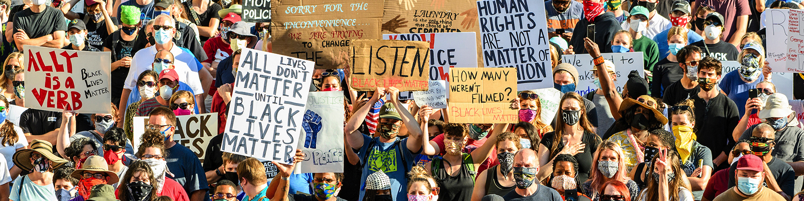 Students demonstrating in support of social justice